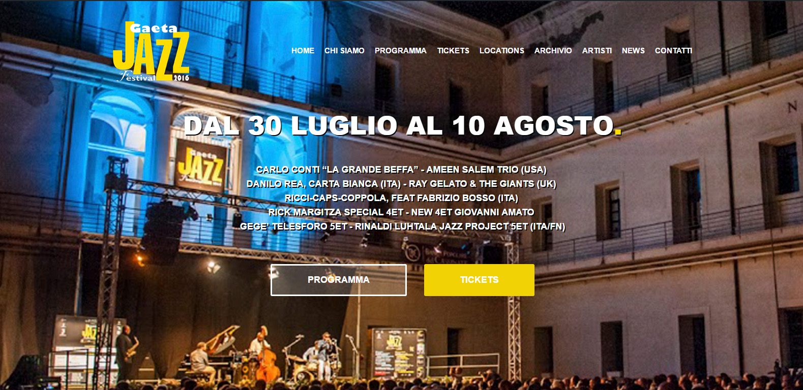 Gaeta Jazz Festival 2016, nuova edizione, nuovo sito