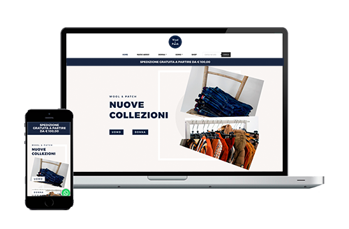 Wool & Patch – Realizzazione E-commerce Abbigliamento